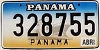1999 PANAMA Ship graphic license plate # 328755