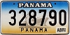 1999 PANAMA Ship graphic license plate # 328790