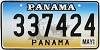 1999 PANAMA Ship graphic license plate # 337424