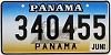 1999 PANAMA Ship graphic license plate # 340455