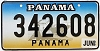 1999 PANAMA Ship graphic license plate # 342608