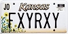 2000 Kansas Sunflower graphic # FXYRXY, Johnson County
