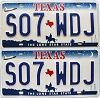2000 Texas Shuttle pair # S07-WDJ