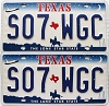 2000 Texas Shuttle pair # S07-WGC