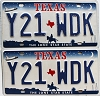 2000 Texas Shuttle pair # Y21-WDK
