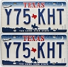 2000 Texas Shuttle pair # Y75-KHT