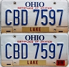 2000 Ohio Aviation graphic pair # CBD-7597