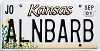 2001 Kansas Sunflower graphic # ALNBARB, Johnson County