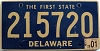 2001 Delaware First State # 215720