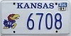 2001 Kansas University graphic # 6708