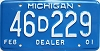 2001 Michigan Dealer # 46D229