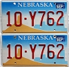2001 Nebraska Windmill graphic pair # Y762, Platte County