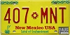 2001 NEW MEXICO license plate # 407-MNT
