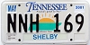 2001 TENNESSEE Sounds Good to Me graphic license plate # NNH-169