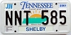 2001 TENNESSEE Sounds Good to Me graphic license plate # NNT-585