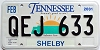 2001 TENNESSEE Sounds Good to Me graphic license plate # QEJ-633