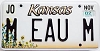 2002 Kansas Sunflower graphic # M EAU M, Johnson County