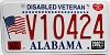 2002 Alabama Disabled Veteran graphic # V10424