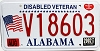 2002 Alabama Disabled Veteran graphic # V18603