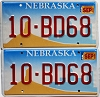 2002 Nebraska Windmill graphic pair # BD68, Platte County