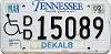 2002 TENNESSEE Disabled license plate # 15089