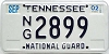 2002 TENNESSEE National Guard license plate # 2899