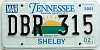 2002 TENNESSEE Sounds Good to Me graphic license plate # DBR-315