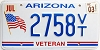 2003 Arizona Veteran graphic # 2758