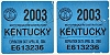 2003 Kentucky Motorboat Registration Tags # E613236