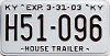 2003 KENTUCKY House Trailer license plate # H51-096