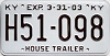 2003 KENTUCKY House Trailer license plate # H51-098
