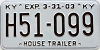 2003 KENTUCKY House Trailer license plate # H51-099