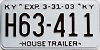 2003 Kentucky House Trailer # H63-411
