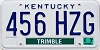 2003 KENTUCKY TEMP USE license plate # 456-HZG, Trimble County
