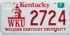 Bulk Lot 10 Western Kentucky University graphic license plates