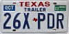2003 TEXAS TRAILER license plate # 26X-PDR