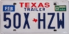 2003 TEXAS TRAILER license plate # 50X-HZW