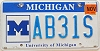 2003 University of Michigan graphic # AB31S