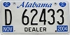 2004 Alabama Dealer # D 62433