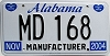 2004 Alabama Manufacturer # MD 168
