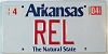 2004 Arkansas Natural State vanity # REL