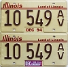 2004 Illinois Antique Vehicle graphic pair # 10 549