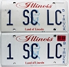 2004 Illinois Truck Vanity graphic pair # 1 SC LC