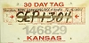 2004 Kansas Temporary Tag # 146829