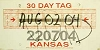 2004 Kansas Temporary Tag # 220704