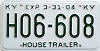 2004 KENTUCKY House Trailer license plate # H06-608