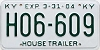 2004 KENTUCKY House Trailer license plate # H06-609