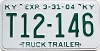 2004 KENTUCKY Truck Trailer license plate # T12-146