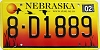 2004 Nebraska graphic # D1889, Hall County