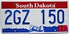 2005 South Dakota graphic # 2GZ-150